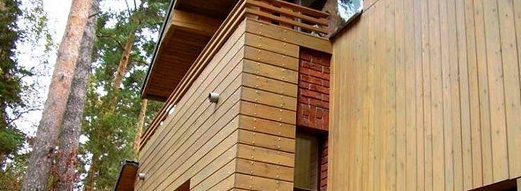Фасады из дерева